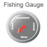 Fishing Gauge Indicating Fishing is Between Slow and Good
